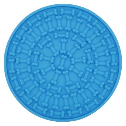 Blue lick mat
